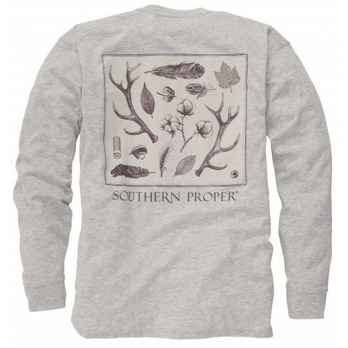 Signs of the Season Tee: Heather Grey Long Sleeve